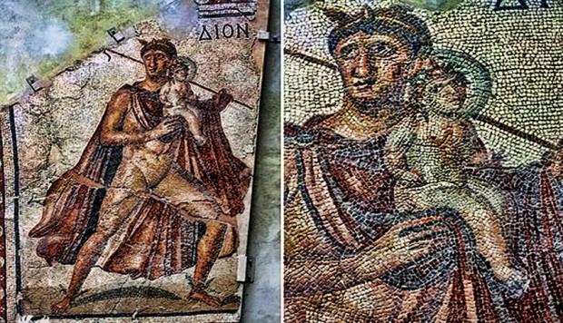 3. Dionysos Mozaiği ( Antakya ) Amerika Worcester Müzesi
