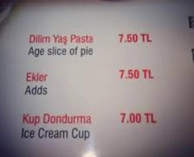 4. Bana bir Adds bir de Age Pie lütfen!