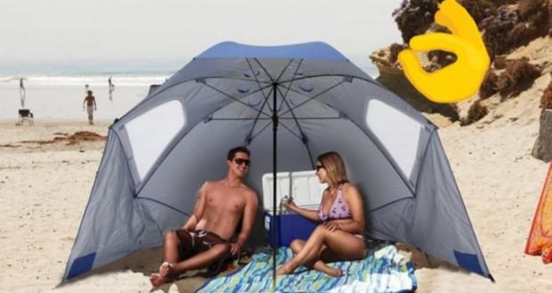 1. Çadır i açılıp yere sabitlenebilen şemsiyegib