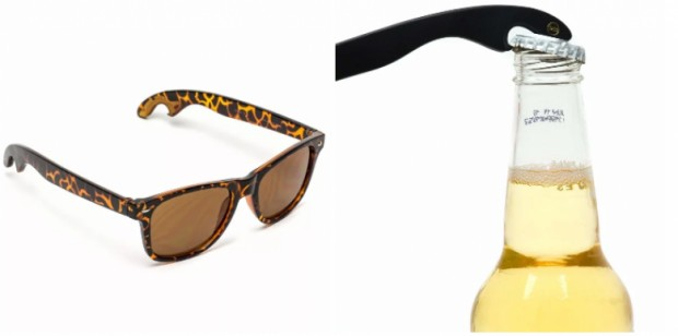 2. İçecekleri açmaya yarayan bir ucu olan güneş gözlüğü