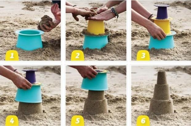 4. Hemen kumdan kaleler yapmanızı sağlayacak müthiş kovalar