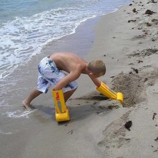 5. Plaj transformatörü gibi hissetmeyi sağlayan bir el küreği