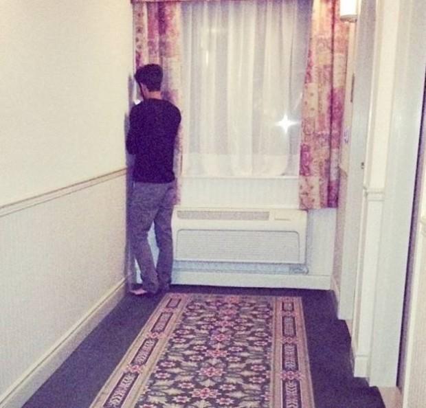 Odalarda wi-fi dedikleri...Ancak bu köşeden çekiyor :)