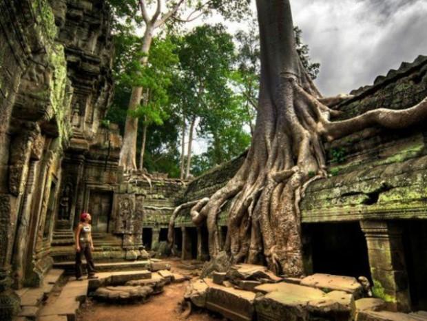 6. Kamboçya'da bulunan Siem Reap tapınağı
