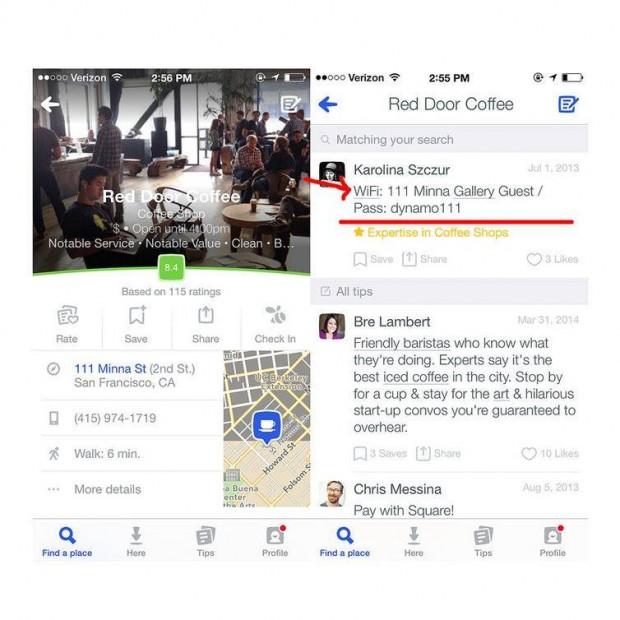 Wifi şifresi için zorlanmayın; telefonunuzdaki Swarm/Foursquare uygulamasını kullanın.