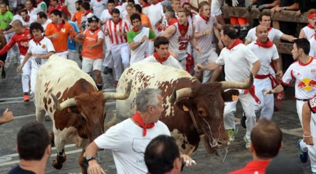 İspanya – Pomplono boğa koşusu
