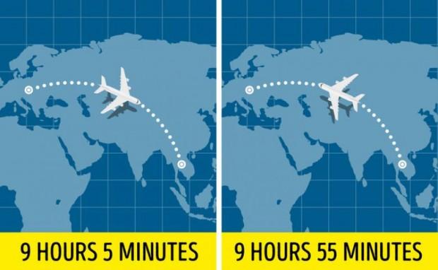 4. Batıdan doğuya doğru gitmek daha az sürüyor, tam tersinde daha çok zaman harcanır...