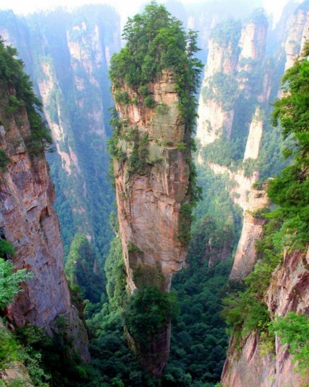 8. Çin'de Tianjie Dağı