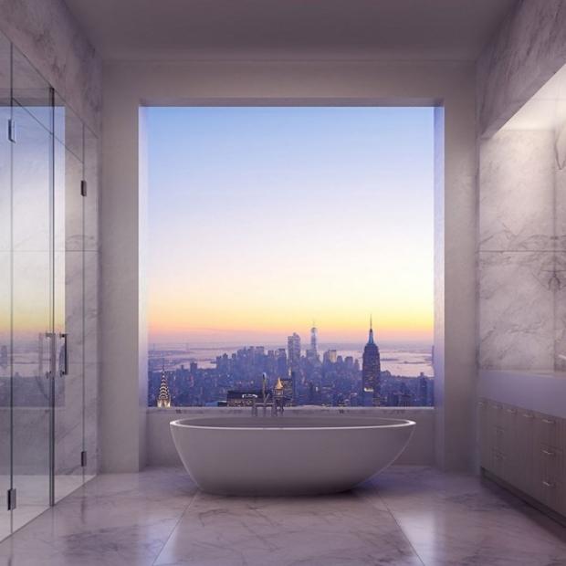 3. Manzaraya karşı banyo keyfi.