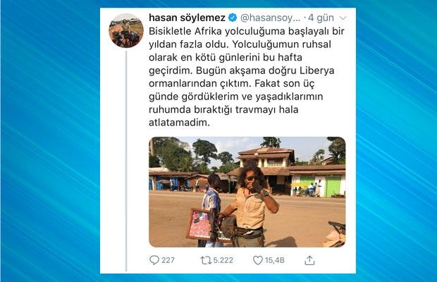 1. Söylemez, sosyal medya hesabından bir fotoğraf paylaştı ve başından geçenleri şöyle anlattı.