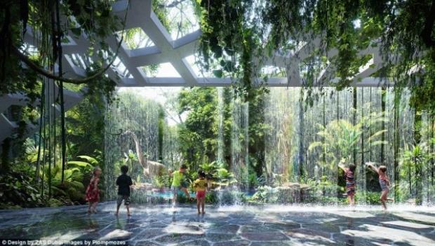 Spa, toplantı ve konferans odaları, spor salonu ve açık yüzme havuzu gibi imkanları olan otelin en dikkat çekici özelliğiyse, bünyesinde yapay bir yağ