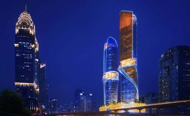 Ünlü bir mimarlık şirketi tarafından tasarlanan bu yapı, 47 katlı 2 kuleden oluşuyor.