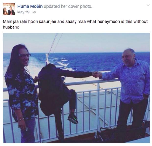 Huma Mobin başta yalnız gitmeyi reddetse de, önceden ödemesi yapılan bu seyahate eşinin anne-babasıyla çıktı. İyi mi etti kötü mü etti bilemiyoruz.