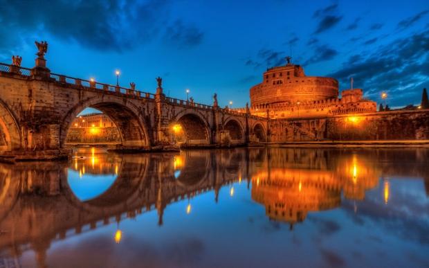 6. Ponte Sant'angelo, Roma, İtalya
