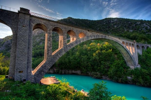 8. Solkan Köprüsü, Slovenya
