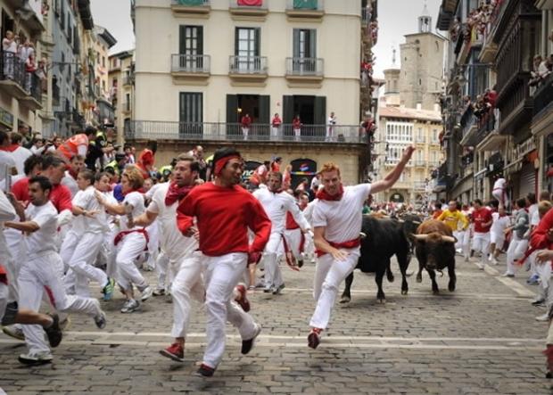 4 – Running of the Bulls – İspanya