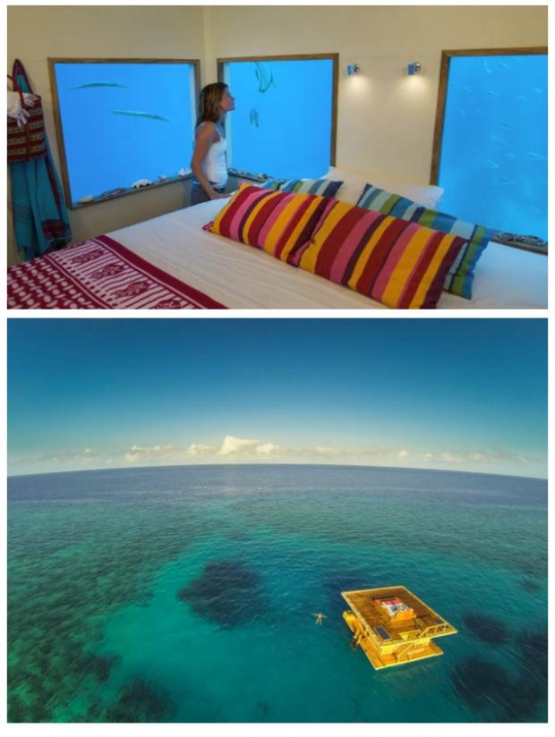 3. Yüzen otel, Zanzibar
