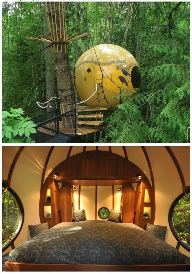 7.Free Spirit Spheres, Kanada