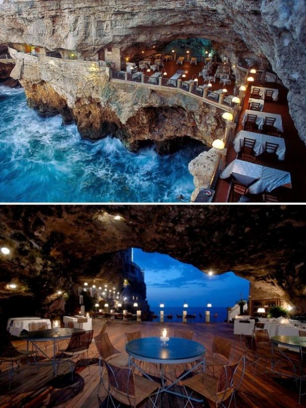 Ristorante Grotta Palazzese, Puglia, İtalya