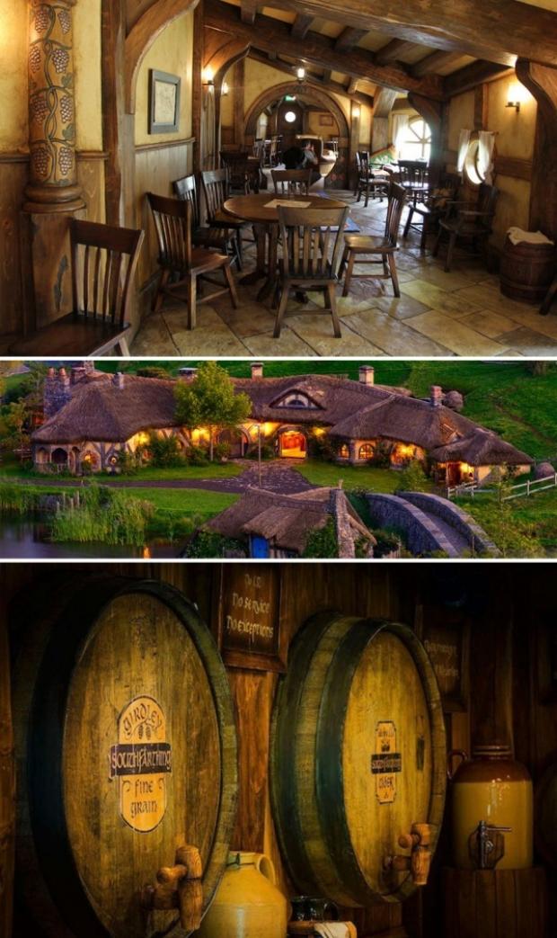 The Green Dragon Pub, Hobbiton, Yeni Zelanda