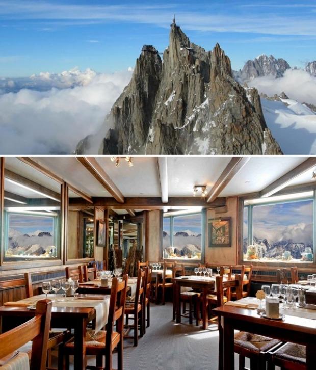 Aiguille Du Midi Restaurant 3842m, Chamonix, Fransa