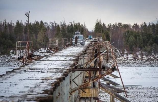 Dünyanın en tehlikeli köprülerinden biri olarak kabul edilen Kuandinsky Köprüsü, Rusya'nın Transbaikal bölgesinde yer alıyor.