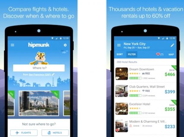 Hipmunk (Android, iOS: Ücretsiz)