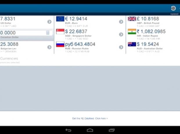 XE Currency (Android,iOS: Ücretsiz)