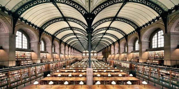 5. Sainte Genevieve Kütüphanesi / Fransa