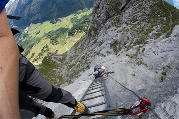 2. Leukerbad'a tırmanma (İsviçre)