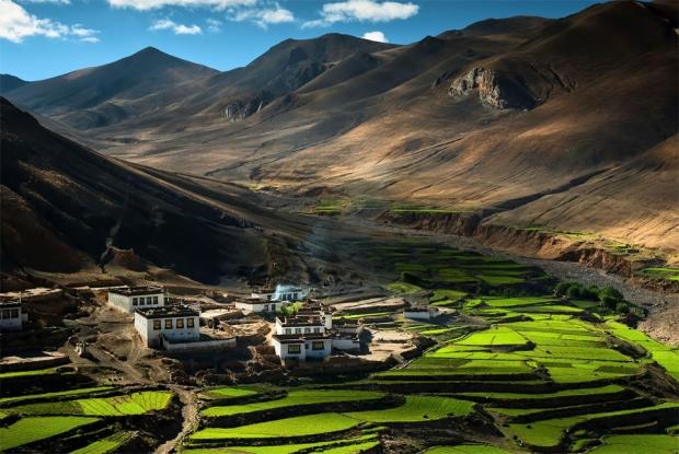 15. Himalayalar'da bir köy, Tibet