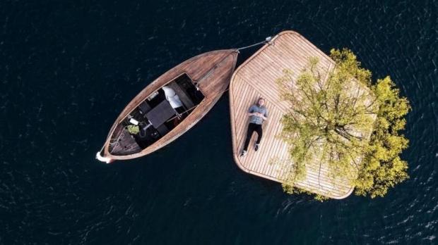 25 m2'lik küçük yapay adalar Blecher ve Fokstrot isimli tasarımcılar tarafından tasarlandı.