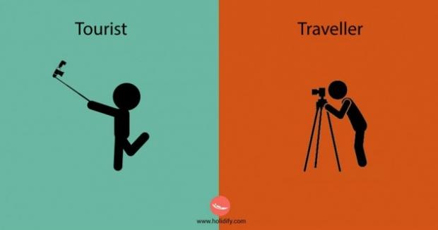 3. Bir turist için selfie çubuğu her şeydir. Seyahat sever için ise, fotoğraf makinesi ve aparatları aynı önemi taşır.