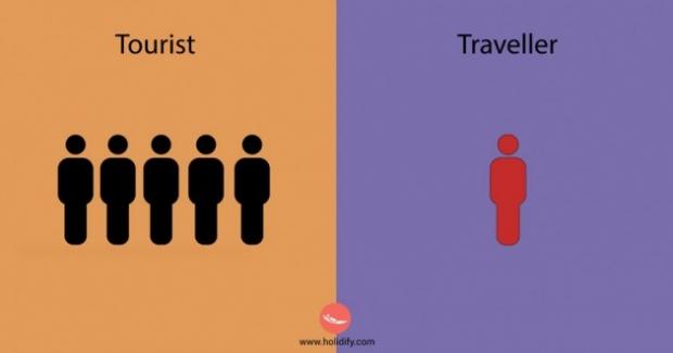 4. Turistler kalabalık arkadaş gruplarıyla, toplu halde dolaşmayı severler. Ama bir seyahat sever genelde başına buyruktur.