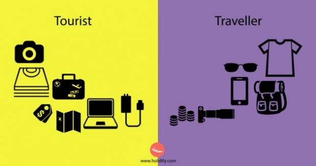 6. Turist için valizi önemlidir. Seyahat sever için ise öyle değil.