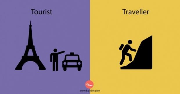 8. Turist gideceği her yere en kolay şekilde ulaşmaya çalışır. Seyahat sever ise yeni yerler keşfetmek için kaybolmayı, uğraşarak yolunu bulmayı sever