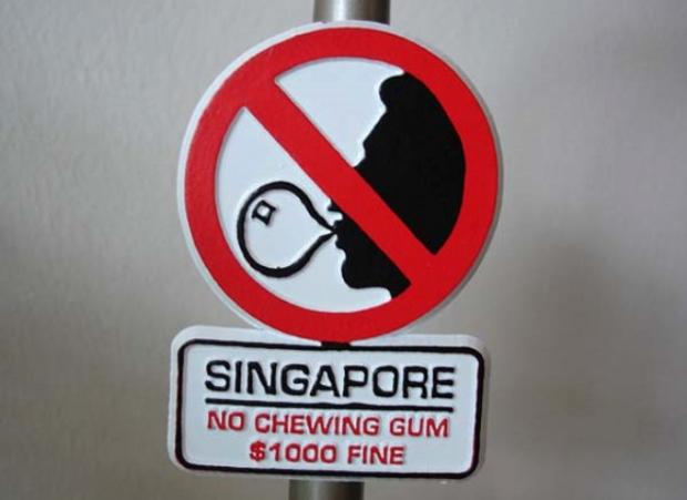 Singapur - Sakız çiğnemek
